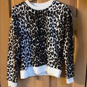 Betsy Johnson Cheetah Print Sweatshirt, sz S NWT